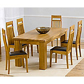 Mark Harris Furniture Barcelona Solid Oak Dining Table with Monte Carlo Chairs