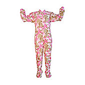 Pink Camouflage Kids Onesie (Extra Small)