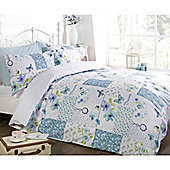 Rapport Art Dream Pathwork Single Quilt Set Teal