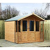 7ft x 5ft Bedford Summerhouse 7 x 5 Garden Wooden Summerhouse