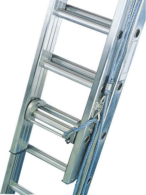 Industrial 5.5m (18.0ft) Rope Operated Double Extension Ladder
