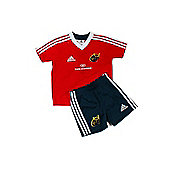 adidas Munster Rugby Home Mini Kit Size - 6Y - Red