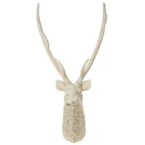 Large Aged White Realistic Look Deer Stags Head 1.8m