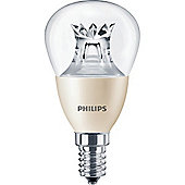 Philips 4-25W Dimmable Clear Golf Ball LED Bulb - Small Edison Screw (SES)