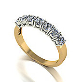 18ct Gold 7 Stone Moissanite Eternity Ring