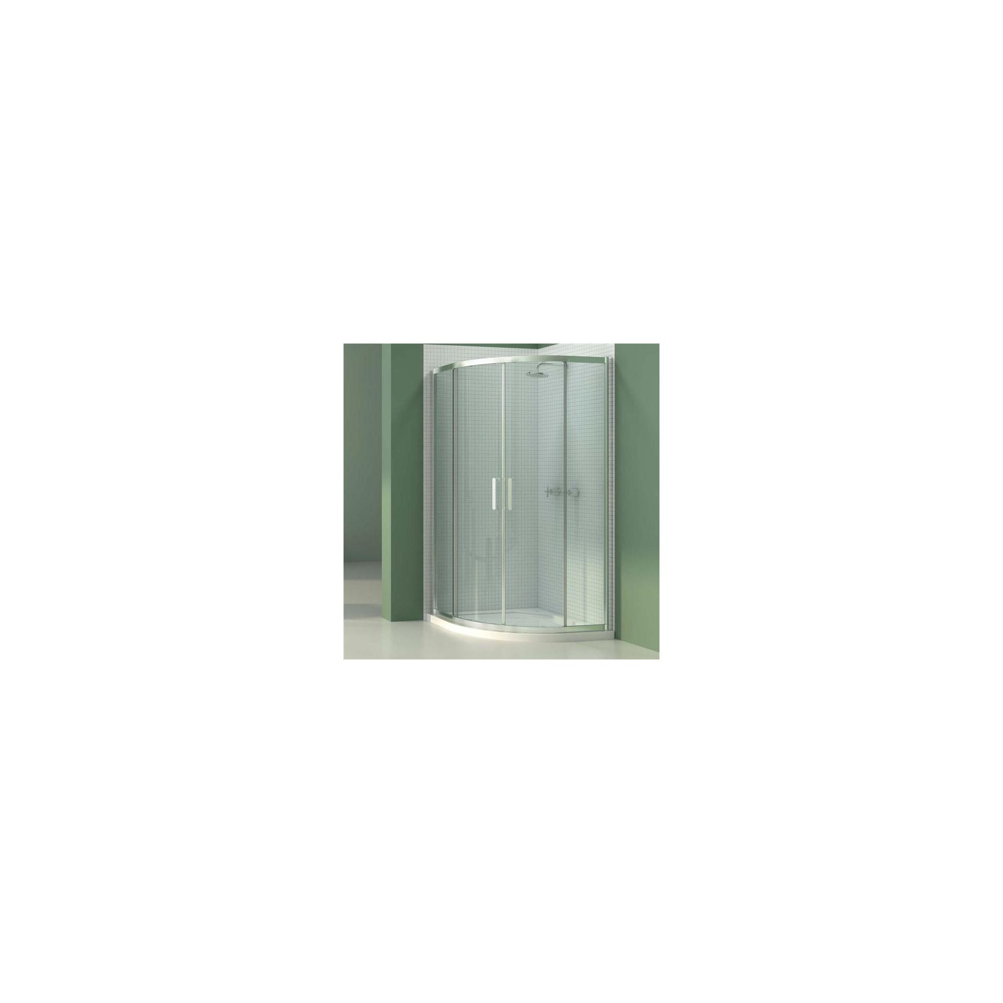 Merlyn Vivid Six Quadrant Shower Enclosure, 800mm x 800mm, Low Profile Tray, 6mm Glass at Tescos Direct