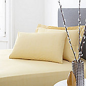 200 Percale Citrine Fitted Sheet Super King