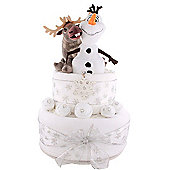 Baby First Christmas Disney Frozen Olaf and Sven Nappy Cake