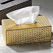 Gedy Marrakech Rectangular Tissue Box - Gold