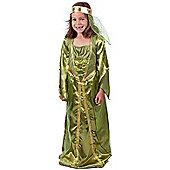 Child Emerald Maid Marion Costume Small