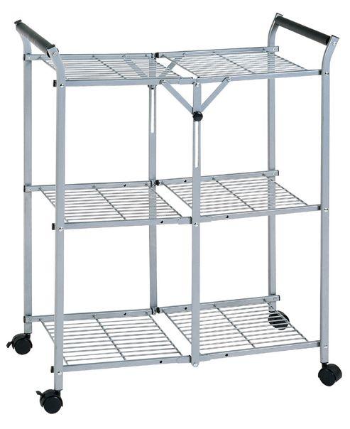 Premier Housewares Three Tier Storage Folding Trolley