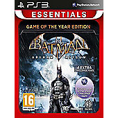 Batman Arkham Asylum Game Of The Year Edition (Essentials) - PS3