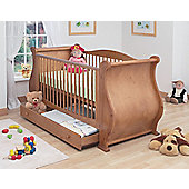 Tutti Bambini Louis Sleigh Cot Bed with Drawer in Old English