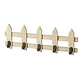 Parlane Wall Hanging Quirky Style Coat Hooks on a Fence - 14.5 x 40.5cm