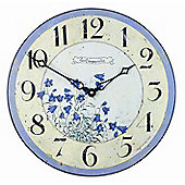 Roger Lascelles Clocks Bluebells Wall Clock
