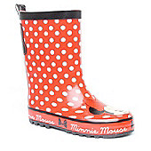 Minnie Mouse Mini Polka Dot Jnr aw 13 Wellington Boot - Red