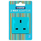 2 way - Non-fused - Adaptor - Light Blue (311C) - Status - 1 pk - Blister Card