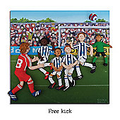 Holy Mackerel Football Free Kick Greetings Card