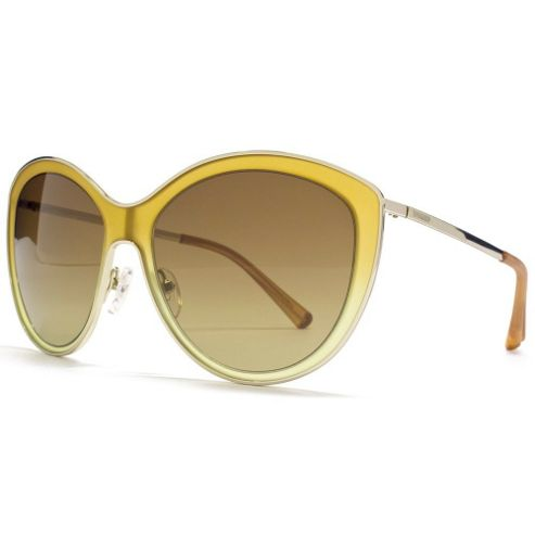 Valentino Sunglasses Cateye in Honey Beige.