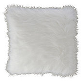 White Faux Fur Cushion
