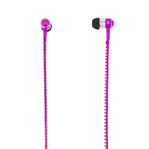 MiTEC Zipper Earphones Pink