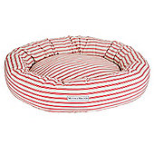 Cranberry Ticking Donut Bed