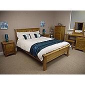 Oakland Chunky Oak 4'6 Double Bed Frame