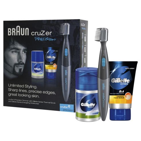 Braun cruZer 6 Precision 2-in-1 Trimmer With Gillette Skin Care Gift Pack