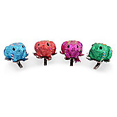 Group of Four Small Vibrant Coloured Clip on Frog Decorations