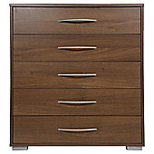 Newport 5 Drawer Chest Walnut