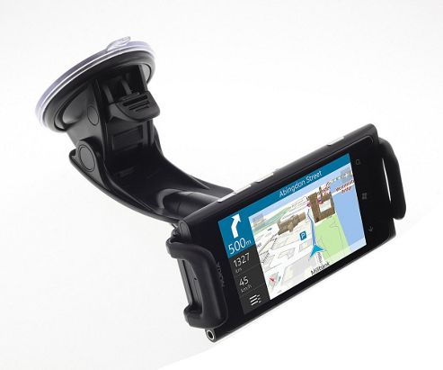Works With Nokia Clamp Cradle, Suction Holder and In Car Charger for Universal Smartphone Devices - Black