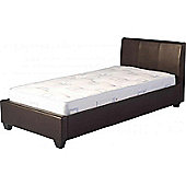 ValuFurniture Palermo 3 0 inch Single Brown Faux Leather Bed