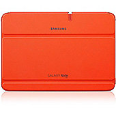 SAMSUNG - Samsung Clip-on Leather Feel Flip Case For Galaxy Note Tab 10.1 Orange