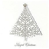 Luxury Snowflake & Tree Jewel Cards 10pk