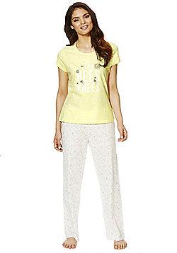 F&F Bees Knees Pyjamas - Yellow