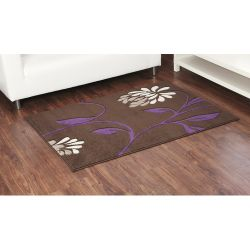 Ultimate Rug Co Rapello Orchid Chocolate / Aubergine Contemporary Rug - 120cm x 165cm