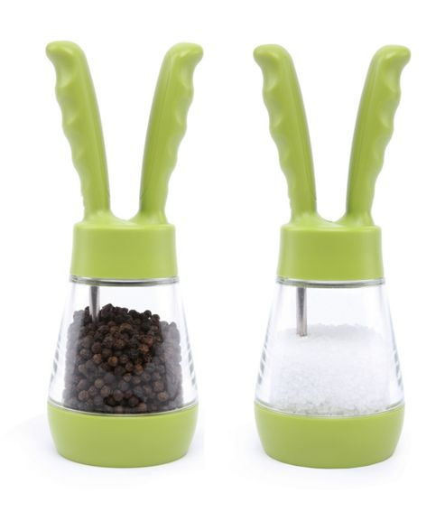 David Mason Design Salt and Pepper Pod Set in Green