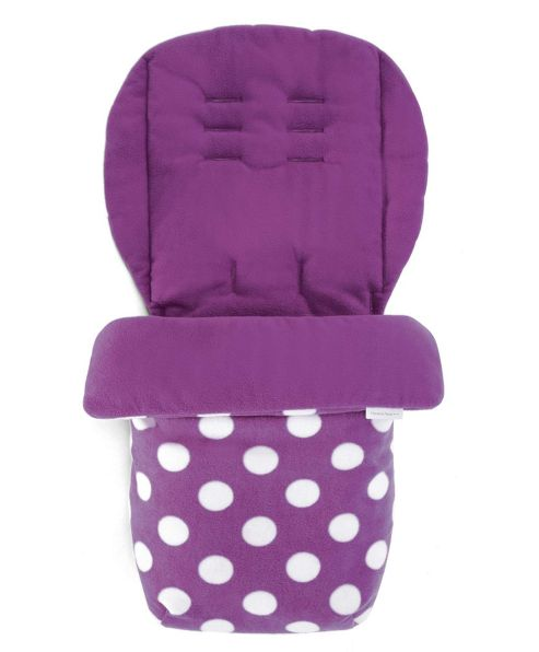 Mamas & Papas - Universal Soft Fleece Footmuff - Pink Polka