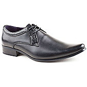 Us Brass Boys Kemp Black Lace-up School Shoes