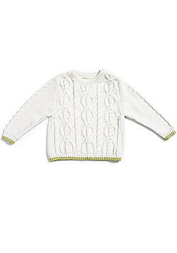Natures Purest Kids - Cable Knit Jumper - Cream