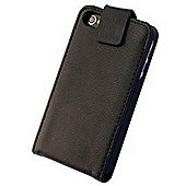 "Tortoiseâ""¢ Genuine Leather Folio Case with Inside Pocket & Built-in Stand, iPhone 4/4S, Black."