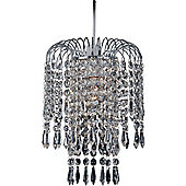 Firstlight 20cm Non - Electric One Light Crystal Pendant in Chrome
