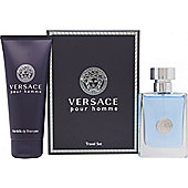 Versace New Homme Gift Set 50ml EDT + 100ml Hair & Body Shampoo For Men