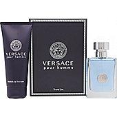 Versace New Homme Gift Set 50ml EDT + 100ml Hair & Body Shampoo For Men