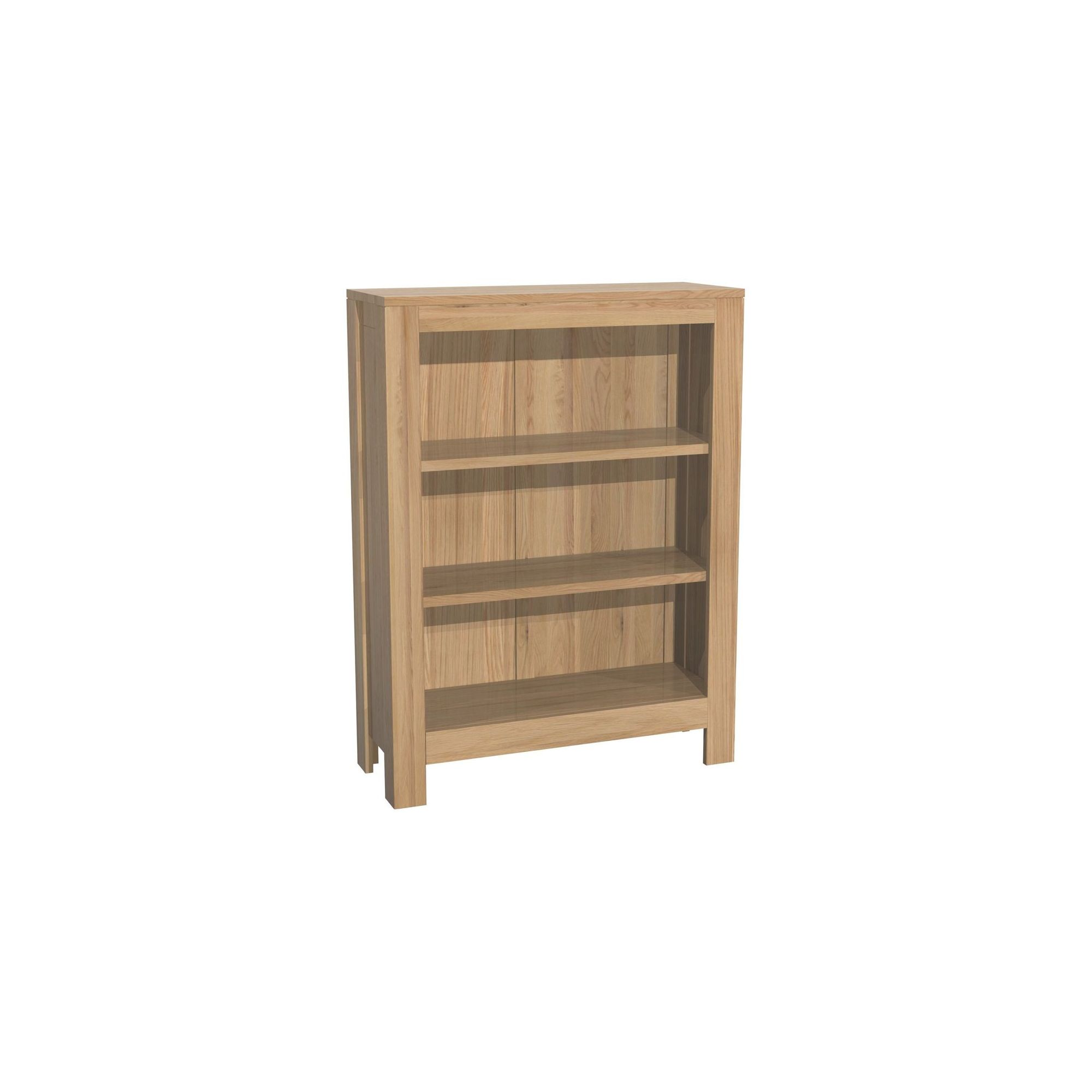 Kelburn Furniture Milano Wide Bookcase in Clear Satin Lacquer at Tesco Direct