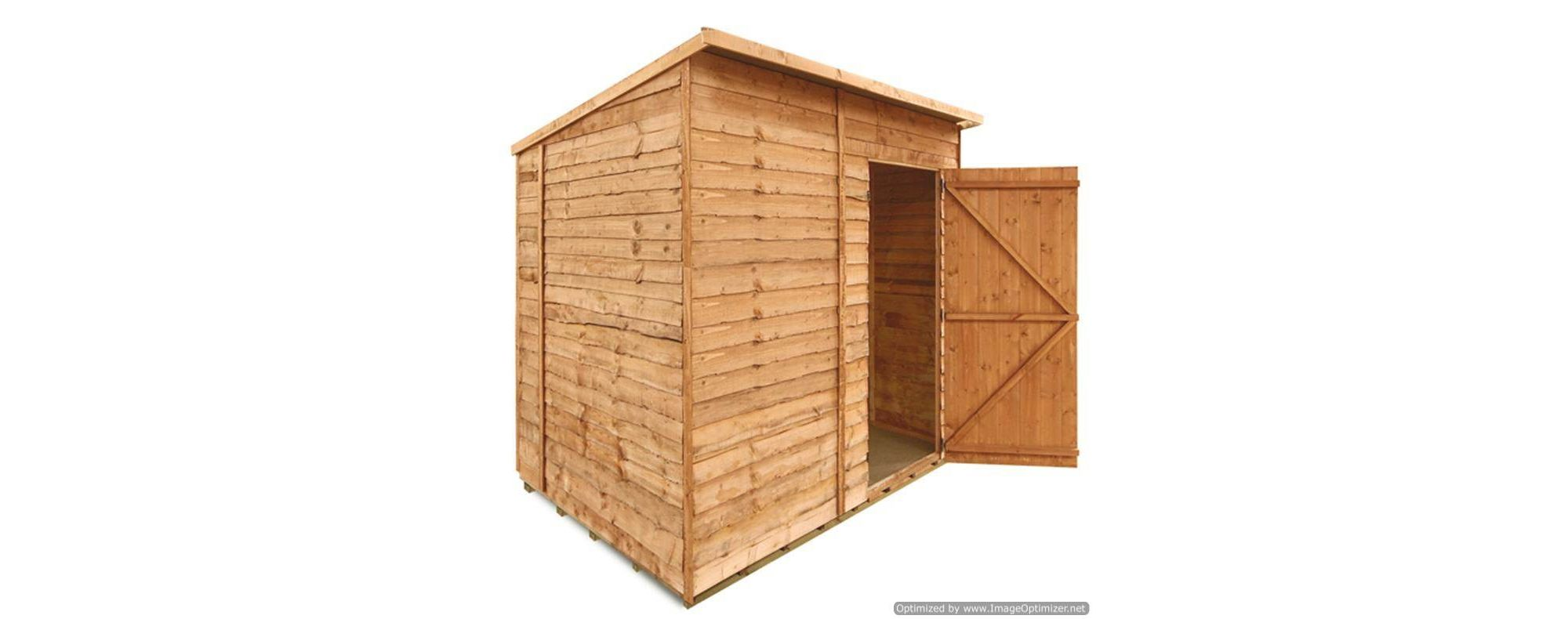 BillyOh 20 7 x 5 Windowless Rustic Overlap Pent Shed