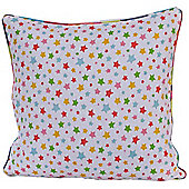 Homescapes Cotton Multi Colour Stars Scatter Cushion, 45 x 45 cm