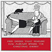 Holy Mackerel Greeting Card - Christmas Card - Xmas Sherry Drink