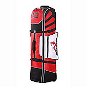 Woodworm Deluxe Golf Bag Travel Cover With Wheels Red / Black