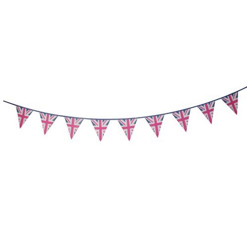 Woven Magic Union Jack Pink Duck Bunting